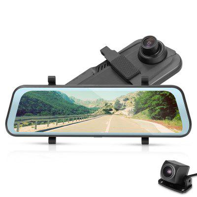 Tecney T98 9.66 Inch Touch Screen 1080P Dash Cam Car DVR Image