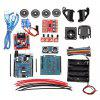 LEBANGSHOU 4WD DIY Smart Chassis Car Kit for Arduino With UNO R3 + Ultrasonic Module + Motor Drive Board /3 - 6V TT Motor - MULTI