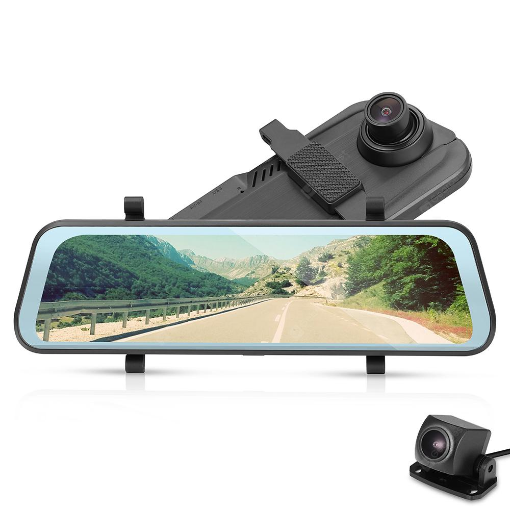 Tecney T98 9.66 Inch Touch Screen 1080P Dash Cam Car