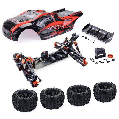 ZD Racing 9021 - V3 1/8 borstelloze 4WD RC Monster Truck Frame RTR