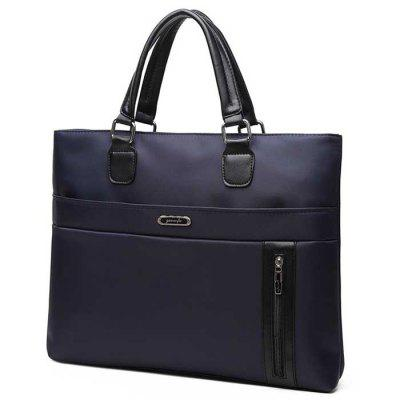 Double Oxford Men's Zip File Handbag