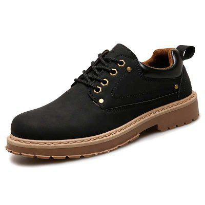 Mannen Britse Style Comfortabele casual schoenen Solid Color Lace-up Footwear