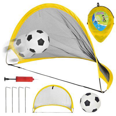 Folding Portable Retractable Soccer Goal Outdoor Sports Football Toy Set