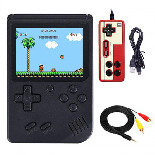 Gearbest Ragebee 500 in 1 3.0 Inch TFT Display 2 Player Handheld Game Console with Gamepad - Black Built-in 500 Games / Digital Game System / Play On TV / Backlit / 1020mAh Battery