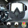 Motocross Face Mask Racing Goggles Outdoor Riding Glasses - BLACK