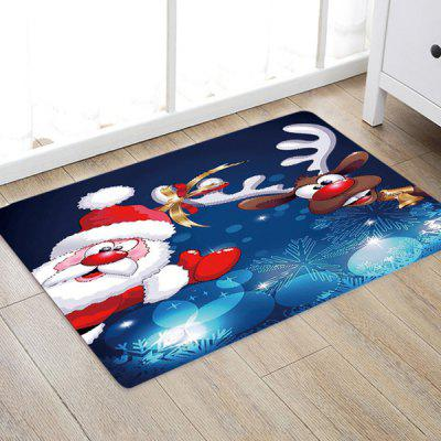Papai Noel Deer Pattern Mat Tapete