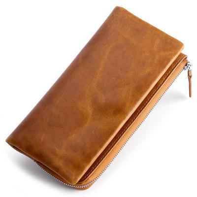 Multi-function Men's Wallet Head Layer Leather