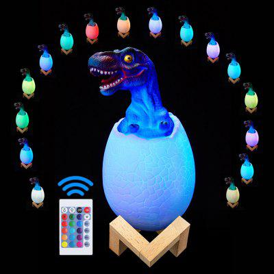 USB 3D Dinosaur Touch Pat Lamp Remote Control Night Light