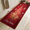 Christmas Red Deer Pattern Mat Carpet - RUBY RED