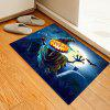 Blue Pumpkin Pattern Mat Carpet - DENIM DARK BLUE
