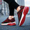 Flying Woven Cushion Men's Sports Casual Shoes - RED