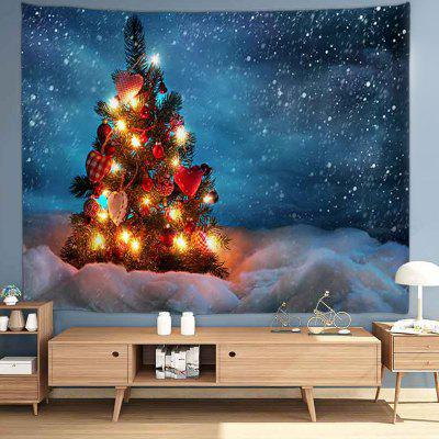 Christmas Tree with Various Gifts Pattern Print Tapestry