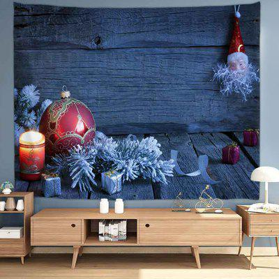 Christmas Ball + Candle Digital Print Tapestry