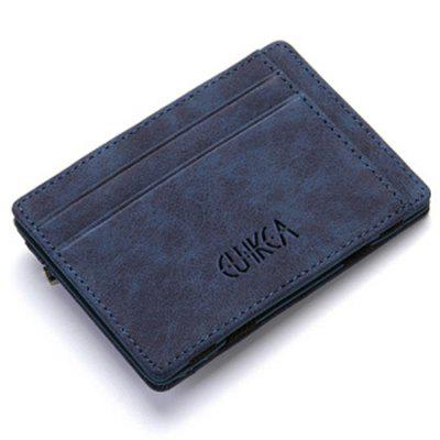 Creative PU Men's Small Zipper Wallet
