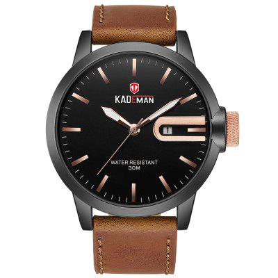 KADEMAN 529G Fashion Men Waterproof Watch Large Dial Design with Calendar Calendar