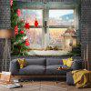 Christmas Tree On Window Sill Digital Print Tapestry - MULTI-A