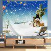 Snowing Snowman Father / Son Pattern Digital Print Tapestry - MULTI-A