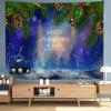 Cartoon Christmas Cabin + Letters Digital Print Tapestry - MULTI-A