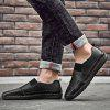 Large Size Sewing Sole Handmade Men Casual Shoes - BLACK