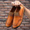 Large Size Sewing Sole Handmade Men Casual Shoes - SANDY BROWN