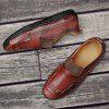 Large Size Sewing Sole Handmade Men Casual Shoes - RED WINE