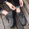 Large Size Pigskin Men Boots - GRAY
