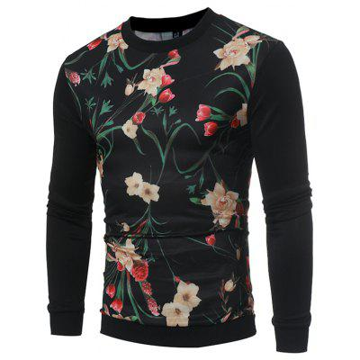 Autumn Winter Fashion Popular Men 3D Printed Sweater