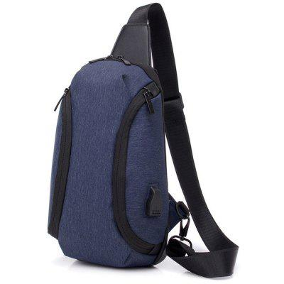 Men's Chest Bag Crossbody Double Shoulder