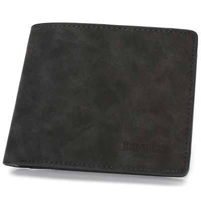 Men's Card Pack Short PU Leather Wallet