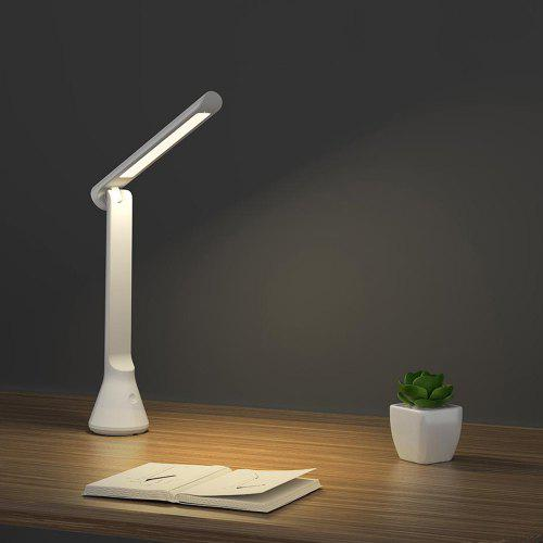 Gearbest YEELIGHT YLTD11YL USB Folding Charging Small Table Lamp ( Xiaomi Ecosystem Product ) - White 40 Hours Lasting Time Light Portable Three Dimmer