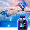 Q12 Touch Screen Kids Smart Phone Watch Front-facing Camera LBS GPS Positioning - BLUE