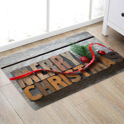 Christmas Series Big Letter Pattern Printed Carpet
