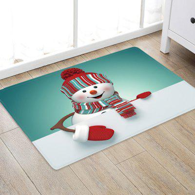 Super Cute Cartoon Snowman Pattern Printed Carpet