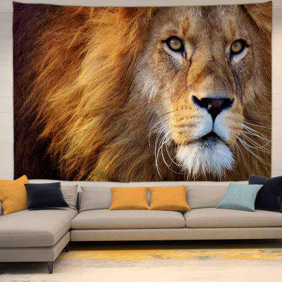 Mighty Lion Pattern Background Digital Print Tapestry