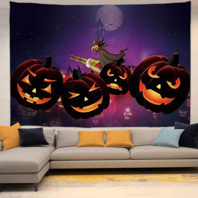 Halloween Pumpkin Witch Pattern Background Digital Print Tapestry