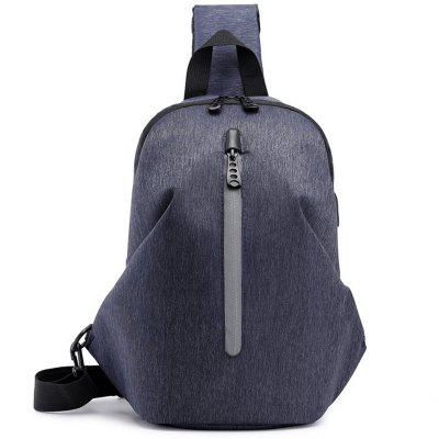 Casual Oxford Cloth Men's Chest Bag USB Charging