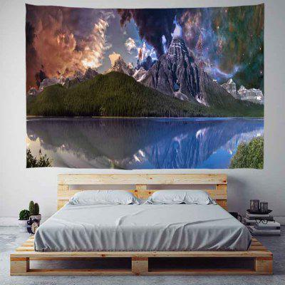 Mountain Forest Before The Storm Background Pattern Digital Print Tapestry