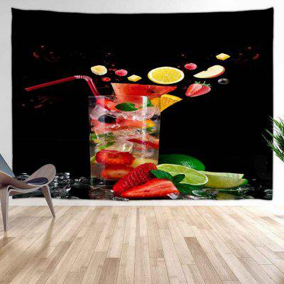 Iced Fruit Drink Pattern Background Digital Print Tapestry