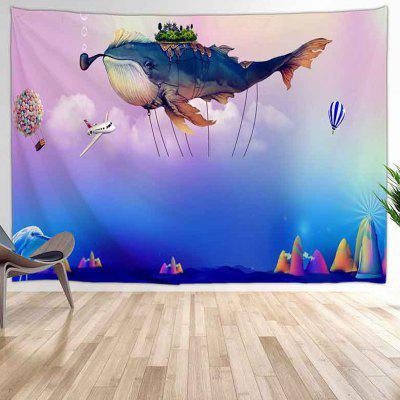 Flying Whale Digital Printing Tapestry