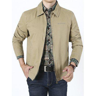 Men's Autumn Winter Turn-down Collar Business Casual Loose Jacket Thin Coat