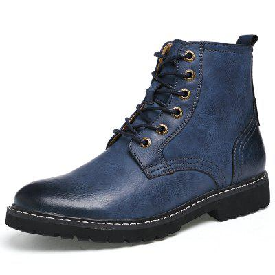 AILADUN Men's Shoes High-top Leather Casual Boots Large Size