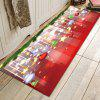 Christmas Series Glittering Pattern Printed Carpet - RED
