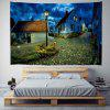 Tranquil Town Under The Night Sky Pattern Wall Digital Printing Tapestry - MULTI-A