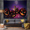 Halloween Pumpkin Witch Pattern Background Digital Print Tapestry - MULTI-A