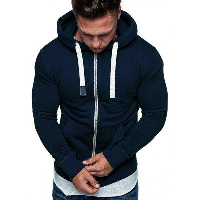 Men's Hooded Fleece Hoodie Casual Jacket