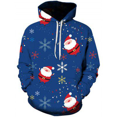 Men's Christmas Series 3D Print Pattern Hoodie