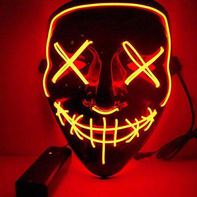 BRELONG Halloweenowa maska ​​imprezowa LED