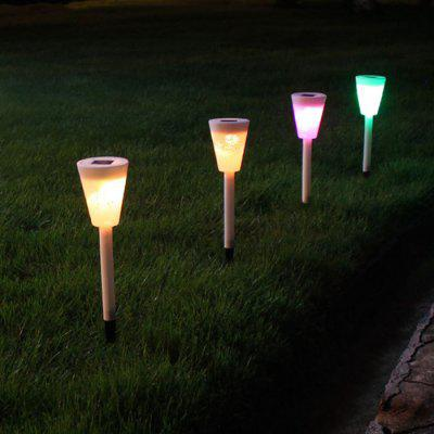 Solar Hollow Lawn Light Butterfly Pattern Garden Floor Lamp
