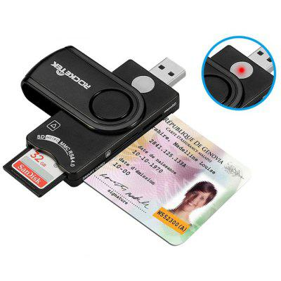 Rocketek SCR10 USB 2.0 Multi Smart Card Reader SD / TF / MS / M2 / ID Card / Bank Card