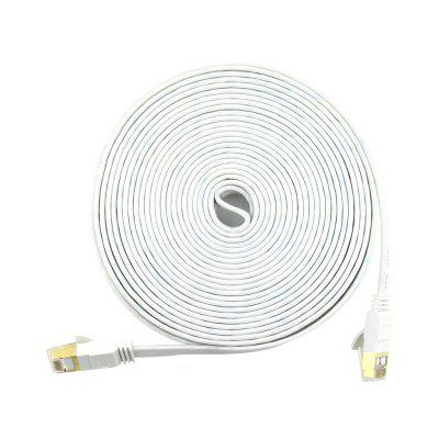 Cable Ethernet plano Cat7 Cable de red blindado de alta velocidad (SSTP) de 10 Gigabits